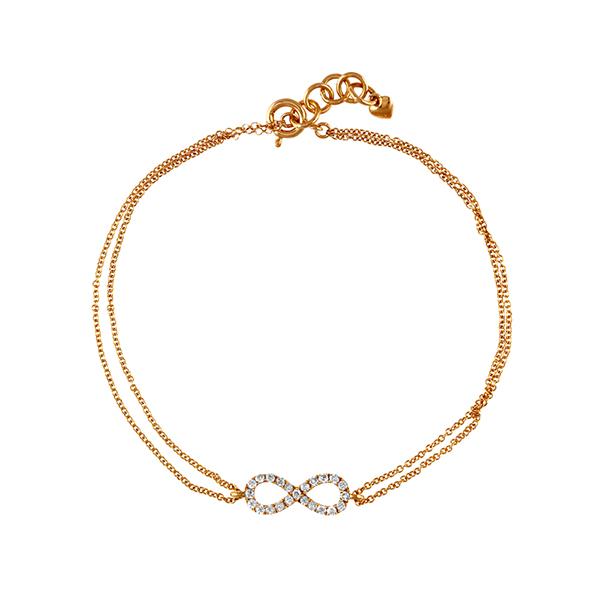 黃K金鑽石手鍊