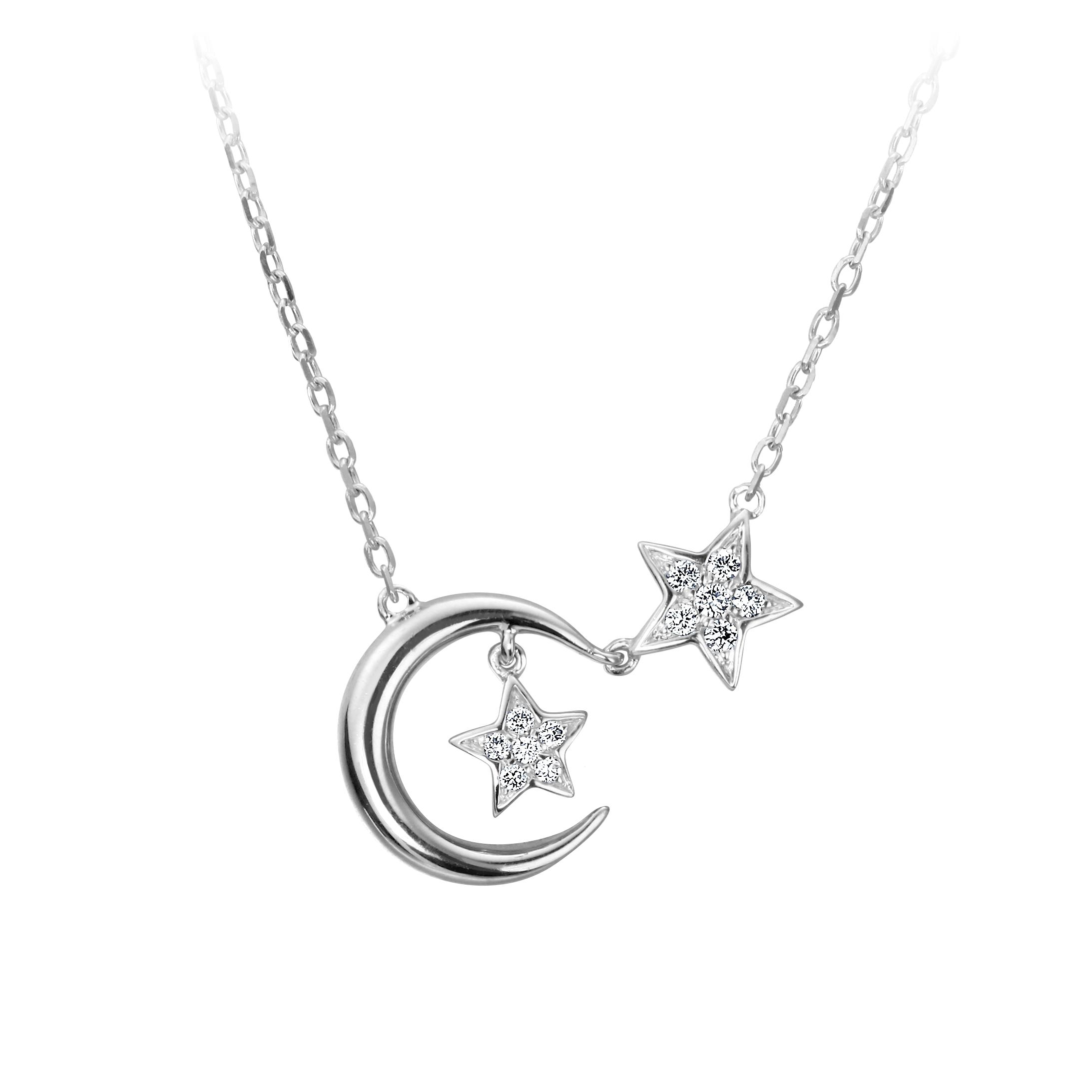 星月鑽石項鍊